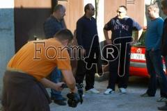"""Đurasović, Kukrika, Tomičić i Elezović ispred popularne """"G'raže"""", odnosno garaže pretvorene u sklonište"""