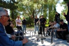 Okupljanje dijela pripadnika Specijalne jedinice policije ispred baze koja je bila u Platu, a zatim zbog neprijateljskog napredovanja prebačena u Dubrovnik