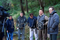 Zapovjednik topa Jakša Daničić (drugi s desna) s dijelom topnika na Maloj Petki